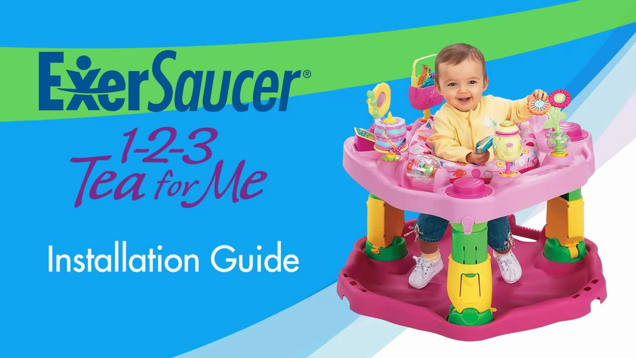 Exersaucer Assembly Evenflo 1 2 3 Tea For Me Exersaucer Youtube