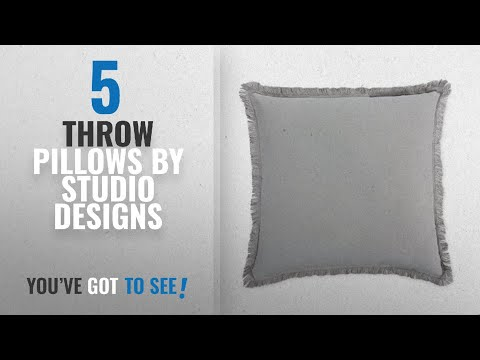 Top 10 Studio Designs Throw Pillows [2018]: Home Design Studio Fringe Pillow Color Grey