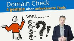 ✅ Domain Check | Freie Domains finden mit 4 unbekannten Tools ☼