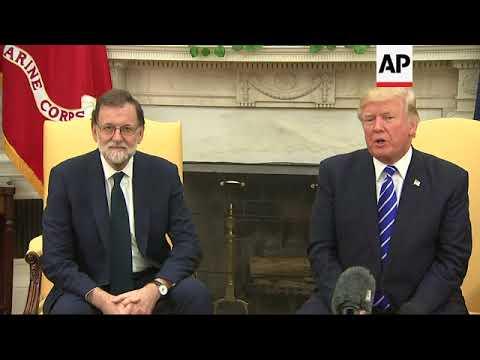 Trump, Spanish PM Meet Before Secession Vote