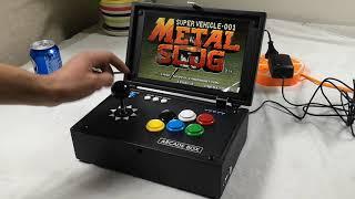"""Portable Pandora Treasure 3D 10"""" Inch Arcade Console 2020 in 1 Retro LCD Video Arcade Game Box"""