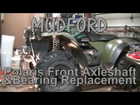 Polaris Sportsman Front Axle Shaft And Bearing Replacement - YouTube