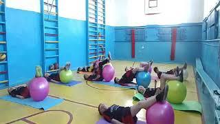 Токмацька школа-інтернат. Урок фізичної культури. 4 клас. 2019 рік.