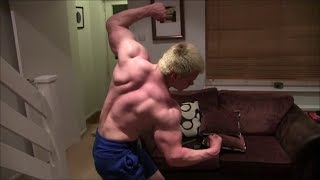 Beast Young UK Teen Bodybuilder Super Saiyan Flex Pumping and Posing Huge Muscles