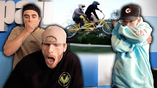 Reacting To Logan's Bike Crash Ft  Tanner Fox