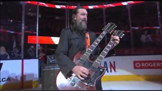 Gordie Johnson performs Oh Canada 04/11/2015