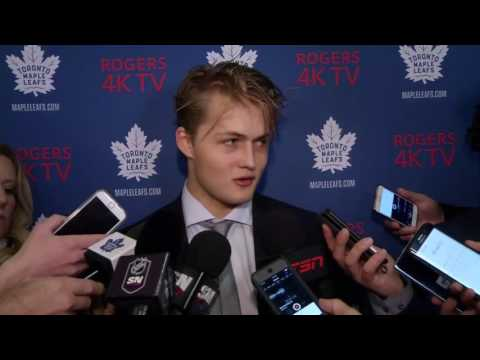 Maple Leafs Post-Game: William Nylander - October 12, 2016