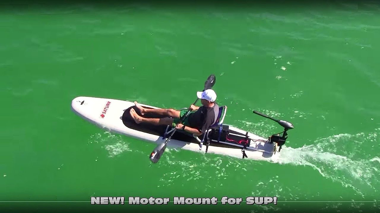 399 Sup With 55lbs Electric Motor Youtube
