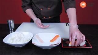 Как готовить нигири. Приготовление нигири. Суши шоп. / How to make nigiri sushi easily.