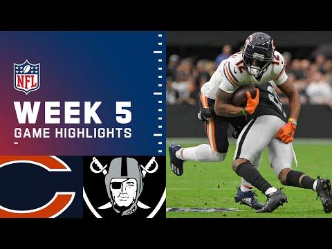 Bears vs. Raiders Week 5 Highlights | NFL 2021