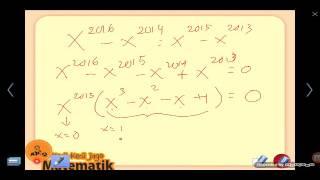 Olimpiade Matematika OSN 2016 Pembahasan Soal 8