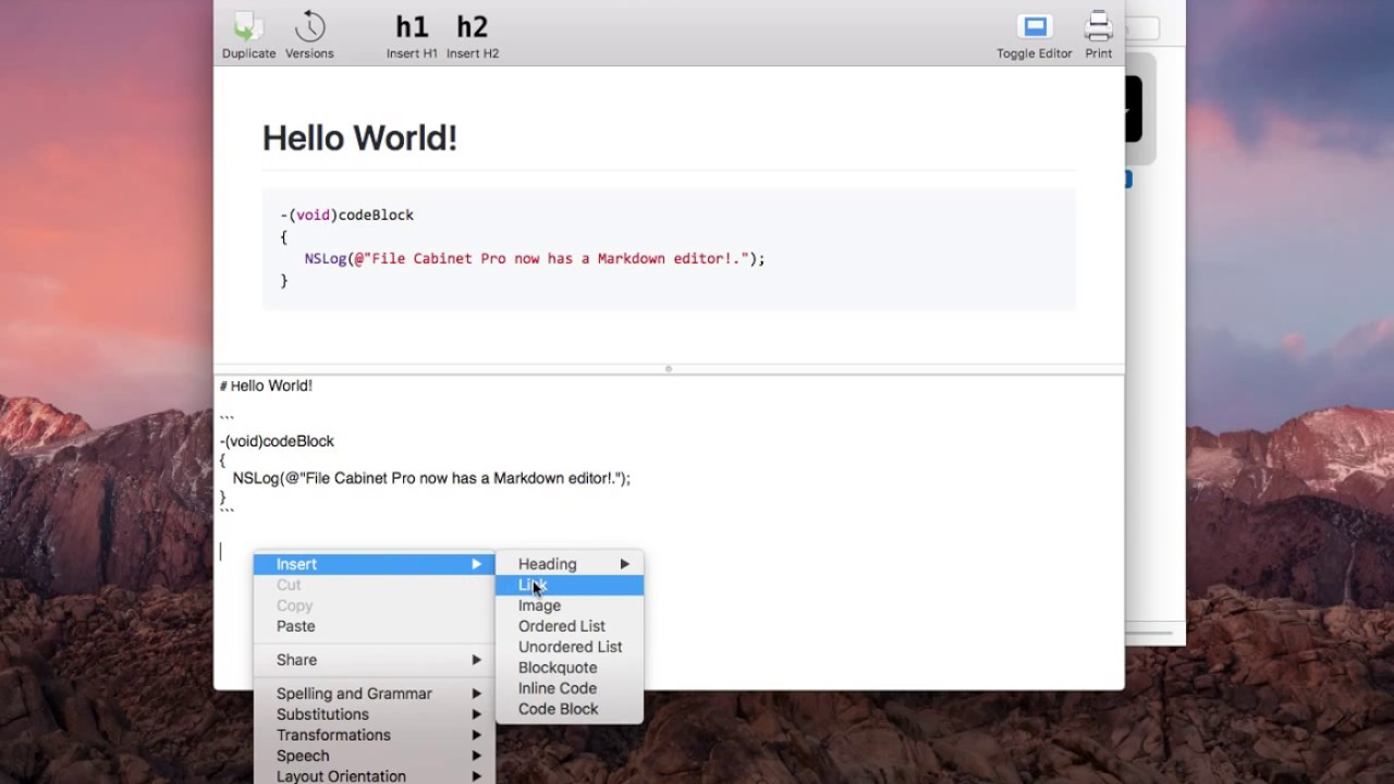 File Cabinet Pro Version 4.1.4 for macOS Adds a Markdown Editor ...