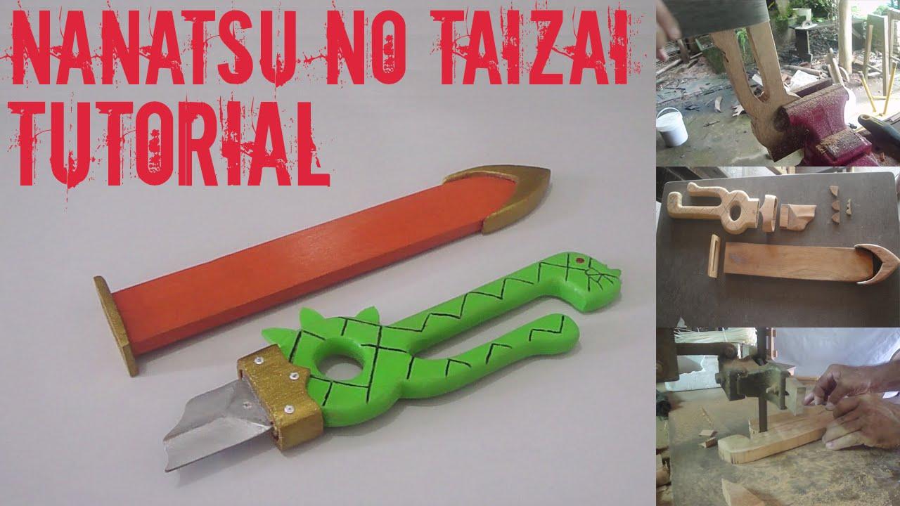 Papercraft [COMO FAZER] ESPADA QUEBRADA DO MELIODAS - TUTORIAL PARA COSPLAY
