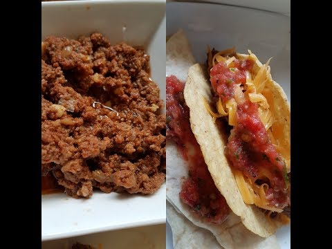 Soft tender ground beef taco or burrito meat- Instant Pot