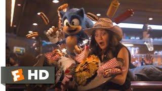 Sonic the Hedgehog (2020) - Bąr Brawl Speedrun Scene (4/10) | Movieclips
