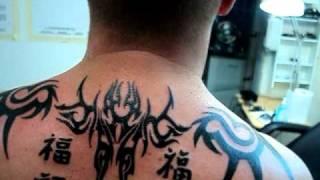 Tatuaje Tribal Espalda Con Letras Chinas Tatuajes Osorno La