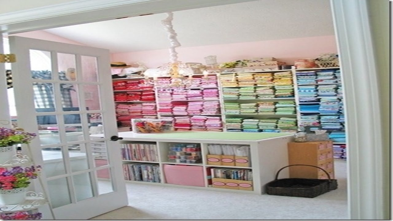 Organizing sewing room ideas youtube Sewing room designs