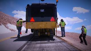 Video still for Customer Testimonial: Cat® PM822 Cold Planer Working on Pikes Peak (Colorado, USA)