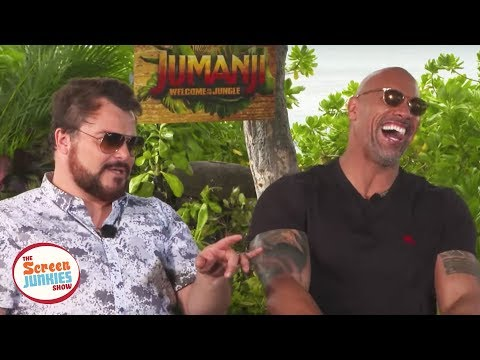 Jack Black Impersonates The Rock (Jumanji Cast Interview)