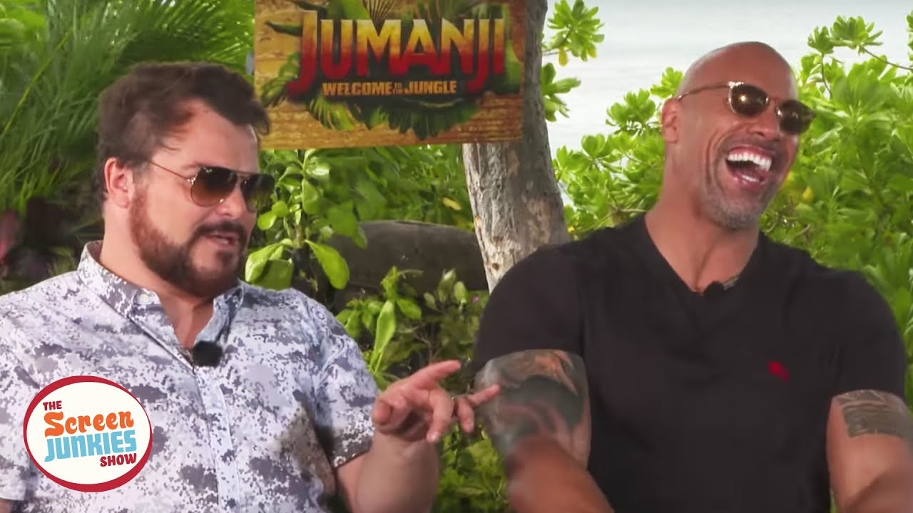 jack-black-impersonates-the-rock-jumanji-cast-interview
