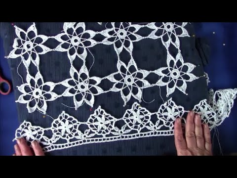 Cluny lace  Curtain Top  part 2