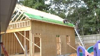 Construction Time Lapse Of A 22x30 Suburban Stick-built Workshop On Slab