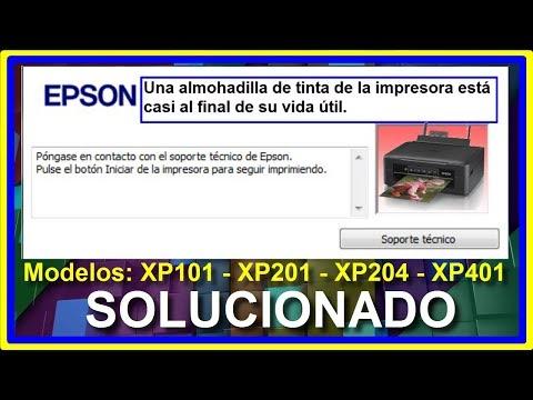 Como Resetear El Contador De Almohadilla De Tinta EPSON XP101 XP201 XP204 XP401│RESET EPSON