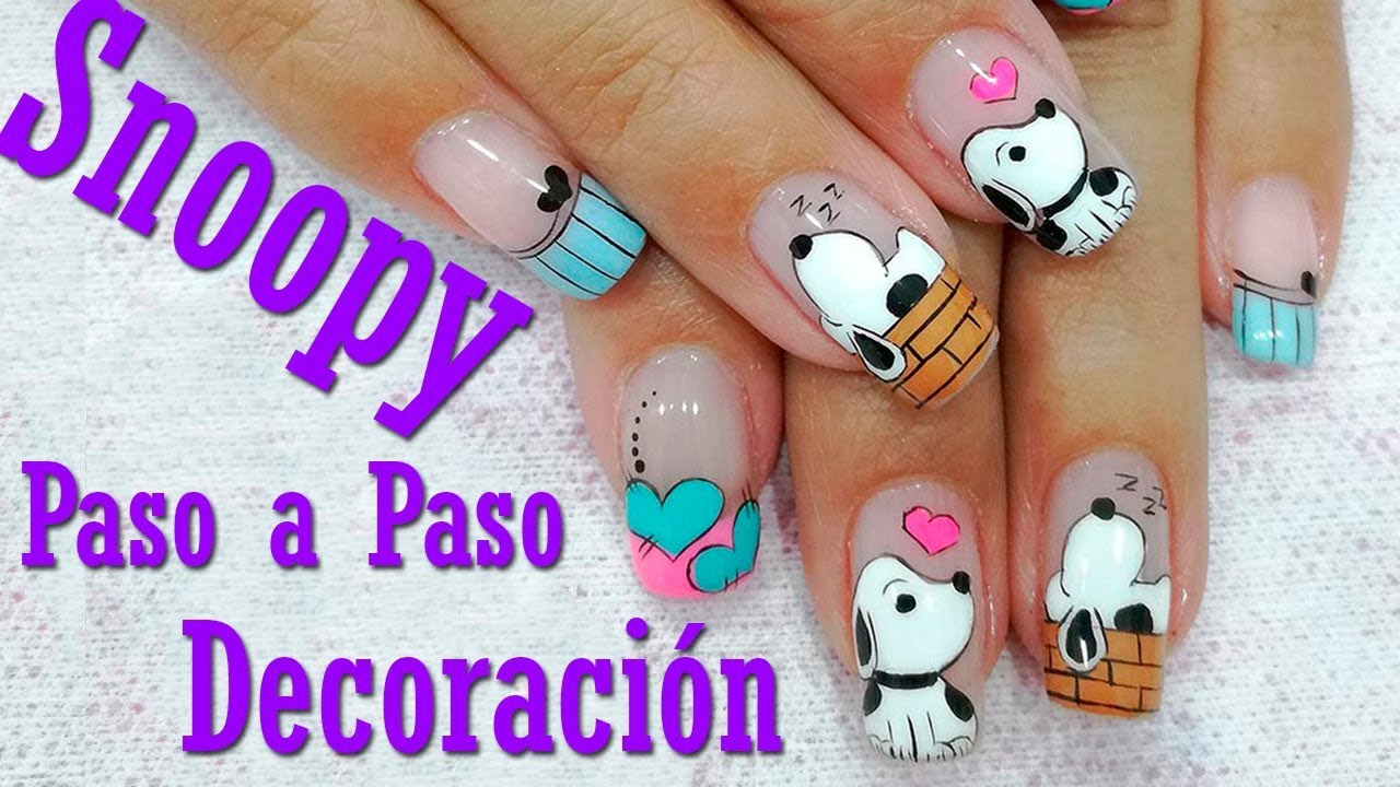 Decoración de Uñas Snoopy - Pinturas Acrílicas para Uñas ...