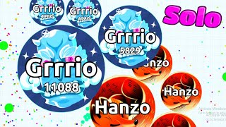 Gambar cover INSANE SOLO VS SLOW TEAMS AND SOLO TEAMERS IN AGARIO (Agar.io Gameplay)