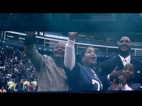 Seahawks Super Bowl Rally - Walter Jones raises the 12th man flag