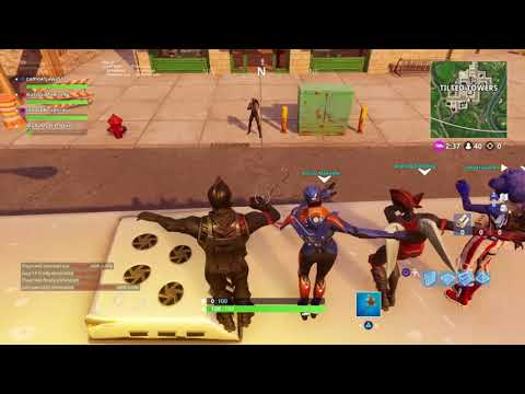 *Infinite Dab Troll At Tilted Towers (Very Funny) |Fortnite: Battle Royale