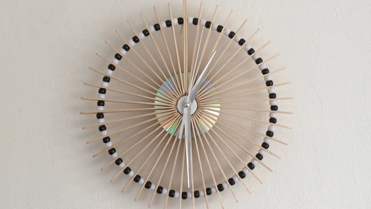How to make a lolly stick clock youtube amipublicfo Choice Image