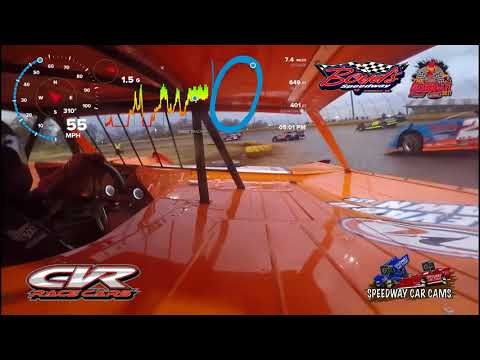 #1 Riley Hickman - Crate Late Model - 11-18-17 Boyd's Speedway - In Car Camera