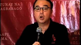 WATCH: Cayetano announces run for VP in 2016