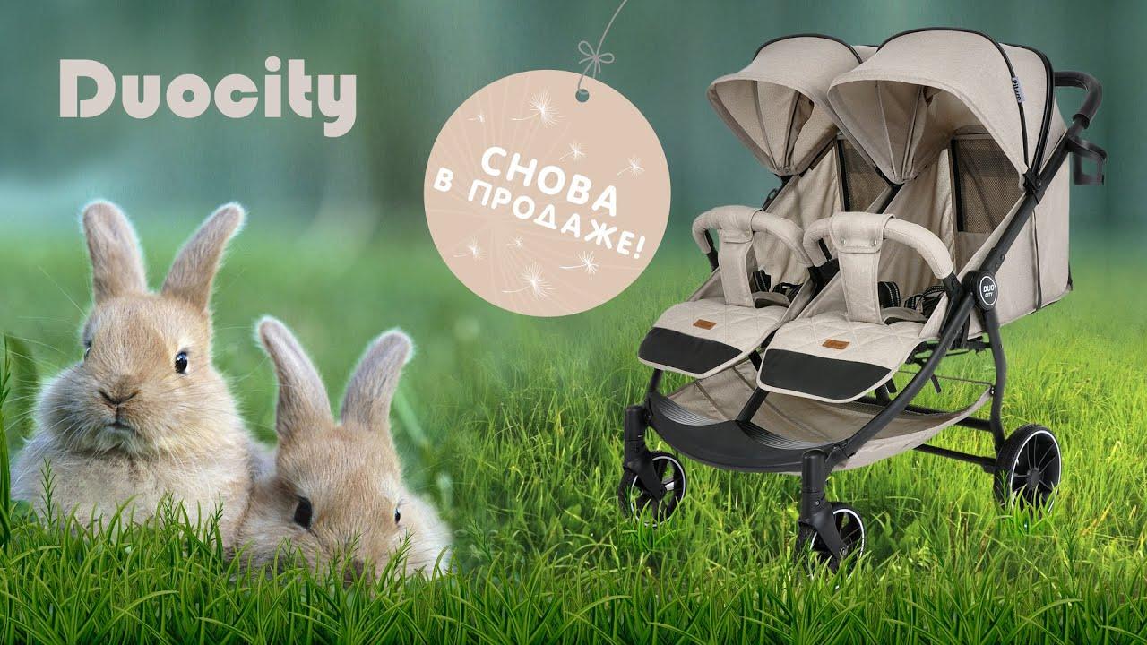 Детская прогулочная коляска для двойни Pituso Duocity Air