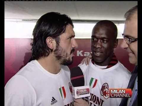 Gattuso & Seedorf Interview - After Match Roma - 07/05/2011