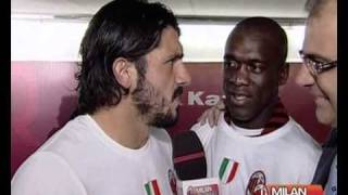 Gattuso & Seedorf Interview - After Match Roma - 07/05/2011
