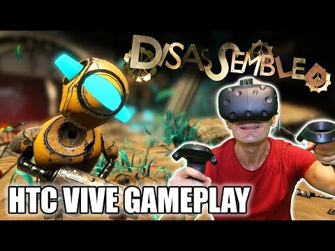 Disassembled VR Gameplay on HTC Vive (Pre-Release) with Revive | Beautiful Oculus Rift VR Shooter!