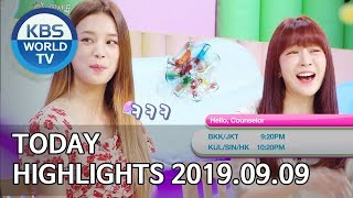 Today Highlights-Home for Summer E90/Sooro's Rovers/Hello, Counselor [2019.09.09]