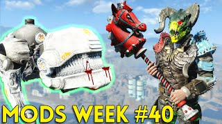 Fallout 4 TOP 5 MODS (PC & XBOX) Week #40 - DEATHCLAW ARMOR, ROBOT DOG, STURMGEWEHR, HOBBY HORSES