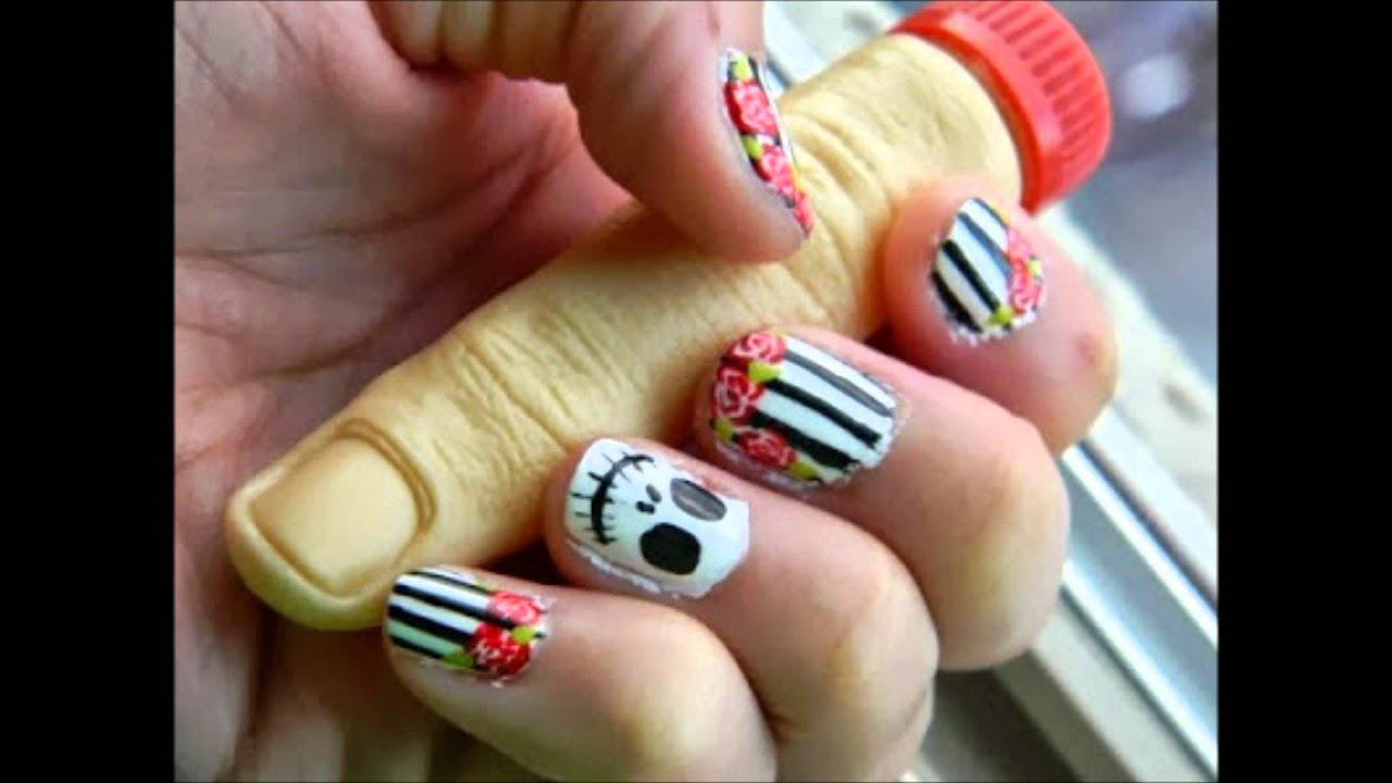 Decoración de Uñas para Halloween - Halloween Nail Art - YouTube