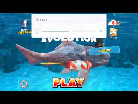 Defeating the yellow crab, in Hungry shark evolution.