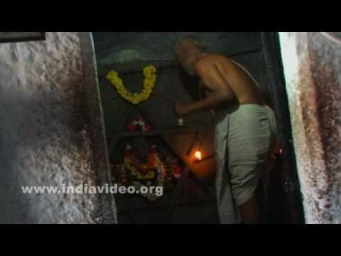 The priest and the rituals at Yantrodharaka Hanuman temple, Hampi