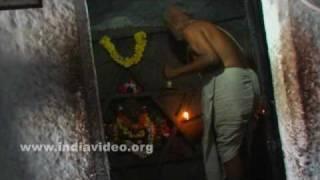 Priest, Yantrodharaka Anjaneya temple, Hanuman temple, Hampi, Karnataka