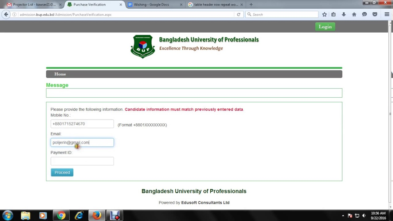 Verify BKash Payment System In Bangladesh University of Professionals(BUP)  Admission System