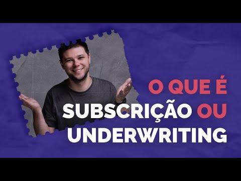 O que é subscrição ou Underwriting? CPA 10, CPA 20, CEA, ANCORD, CFP, CNPI, CFG, CGA