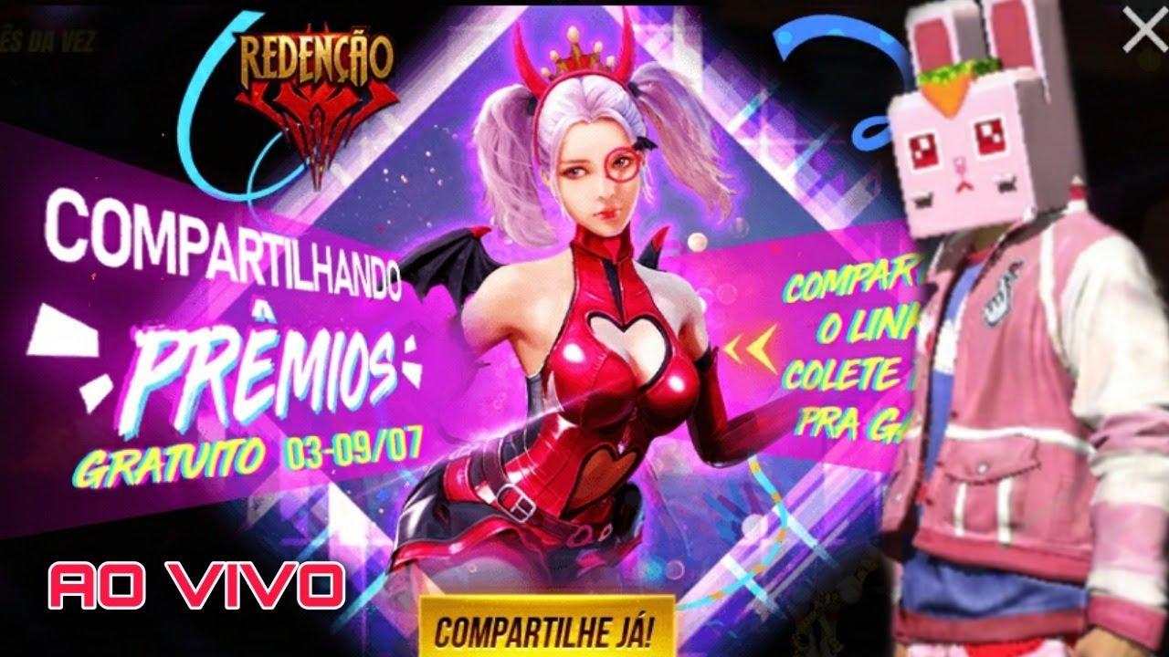 Free Fire Ao Vivo Novo Evento De Compartilhar Link No Free Fire Jogado Com Inscritos Youtube