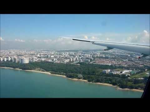 (HD) Singapore Airlines Boeing 777-300, Landing at Singapore Changi, 19/05/13.