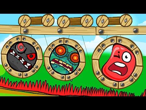 Красный Шар - мод Bad Piggies на уровне ! Игра Red Ball 4 Mod 100 Square шарик от Спуди !