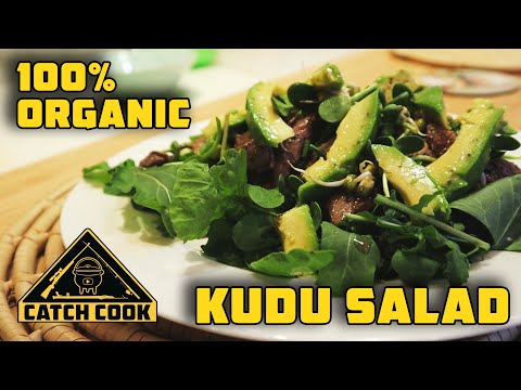 100% organic venison salad, a team effort from the whole family - catch cook - South Africa